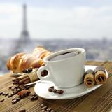 Fototapeta Eiffel Tower - kawa © Tomasz