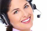 Call center operator woman.