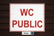WC public ' dames '