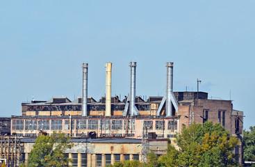 Old coal fired power plant in industrial zone of Kiev, Ukraine