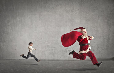 Chased Santa Claus