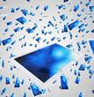 Tablet-PC Schwarm - Weiß Blau