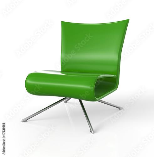 Moderner Sessel isoliert - Grün
