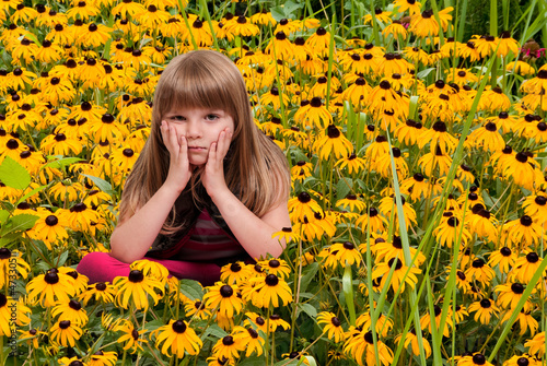 Girl in Blackeyed Susans