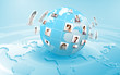 Planet as symbol of social networking
