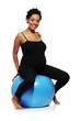 Pregnant woman exercises