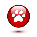 Paw on red button