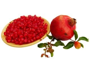 pomegranate (Punica granatum) fruit with seeds