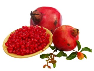 pomegranate (Punica granatum) fruits with seeds