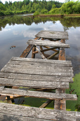 Old rotten jetty