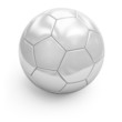 White soccerball. Closeup.
