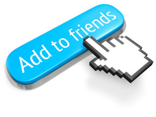 Long blue Add to friends and hand cursor