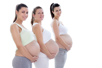 Young pregnant women in third trimester