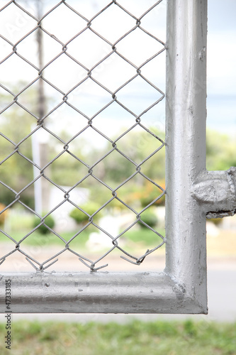 Edge of wire fence