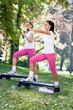 fitness class, outdoor