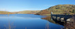Leinwanddruck Bild - Craig Goch reservoir and dam panorama, Elan Valley Wales.