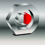 Logo Sechseckkreis rot