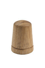 wooden sewing thimble