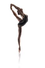 schöne Ballett-Tänzerin isoliert