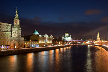 Night Moscow. Panorama