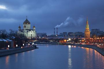 Evening Moscow. Panorama