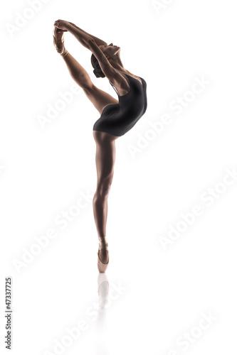 Papiers peints Gymnastique beautiful ballet dancer isolated