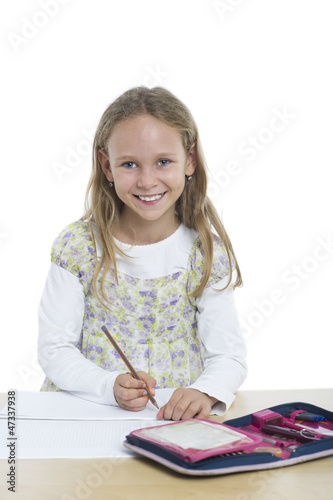 Glückliche Schülerin