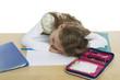 Schulkind ist übermüdet
