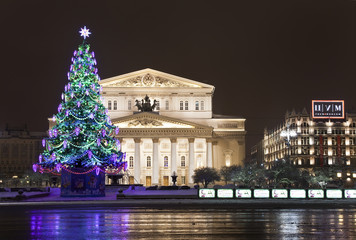 Night Moscow. Bolshoi Theatre