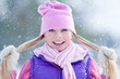 Sporty girl  in winter