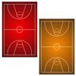 Two basketball fields