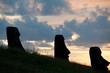 Sunrise at Rano Raraku volcano, Easter island (Chile)
