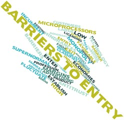 Word cloud for Barriers to entry