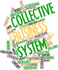 Word cloud for Collective business system