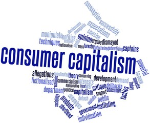 Word cloud for Consumer capitalism