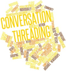 Word cloud for Conversation threading
