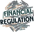 Leinwandbild Motiv Word cloud for Financial regulation