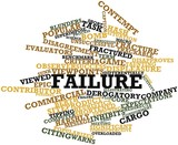 Word cloud for Failure