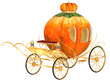 Cinderella fairy tale pumpkin carriage, isolated