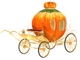 Cinderella fairy tale pumpkin carriage, isolated poster