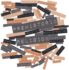 Word cloud for Prehistoric religion