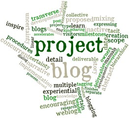 Word cloud for Project blog