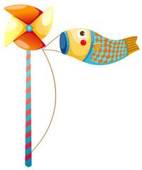 Japanese koi carp windsocks