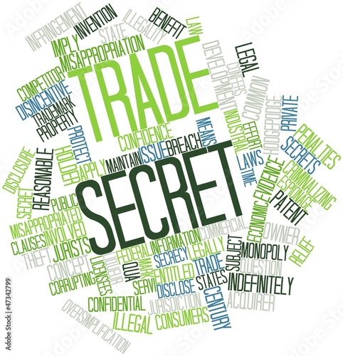 Leinwandbild Motiv Word cloud for Trade secret