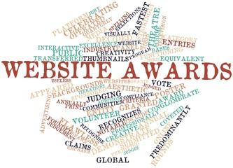 Word cloud for Website awards