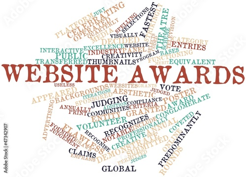 Word cloud for Website awards
