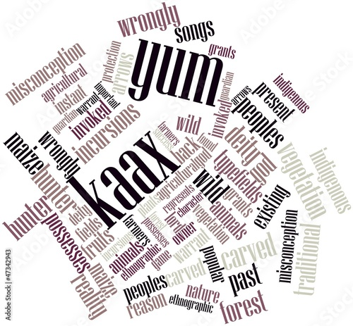 Word cloud for Yum Kaax