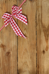Decoration on wooden background