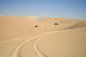 4x4 safari in desert of Egypt