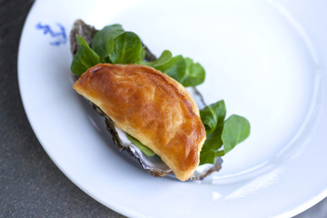 Feuilleté, huître, cuisine, gastronomie, pâte, repas